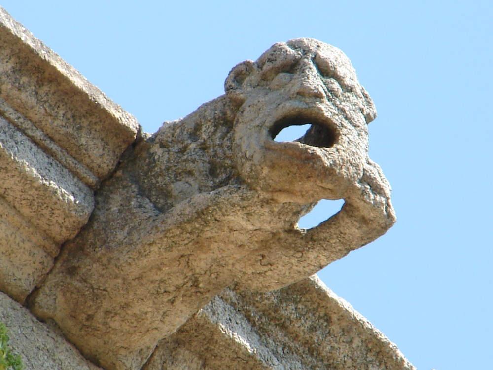 Hombre salvaje. Gárgola de la catedral de Coria (Cácere)
