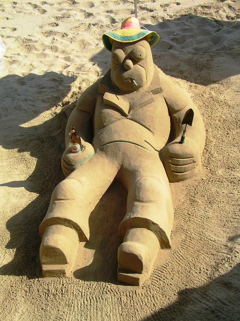 Homer Simpson am Strand...