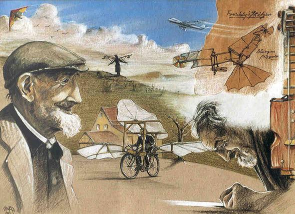 Hommage an Gustav Mesmer - (gezeichnet)