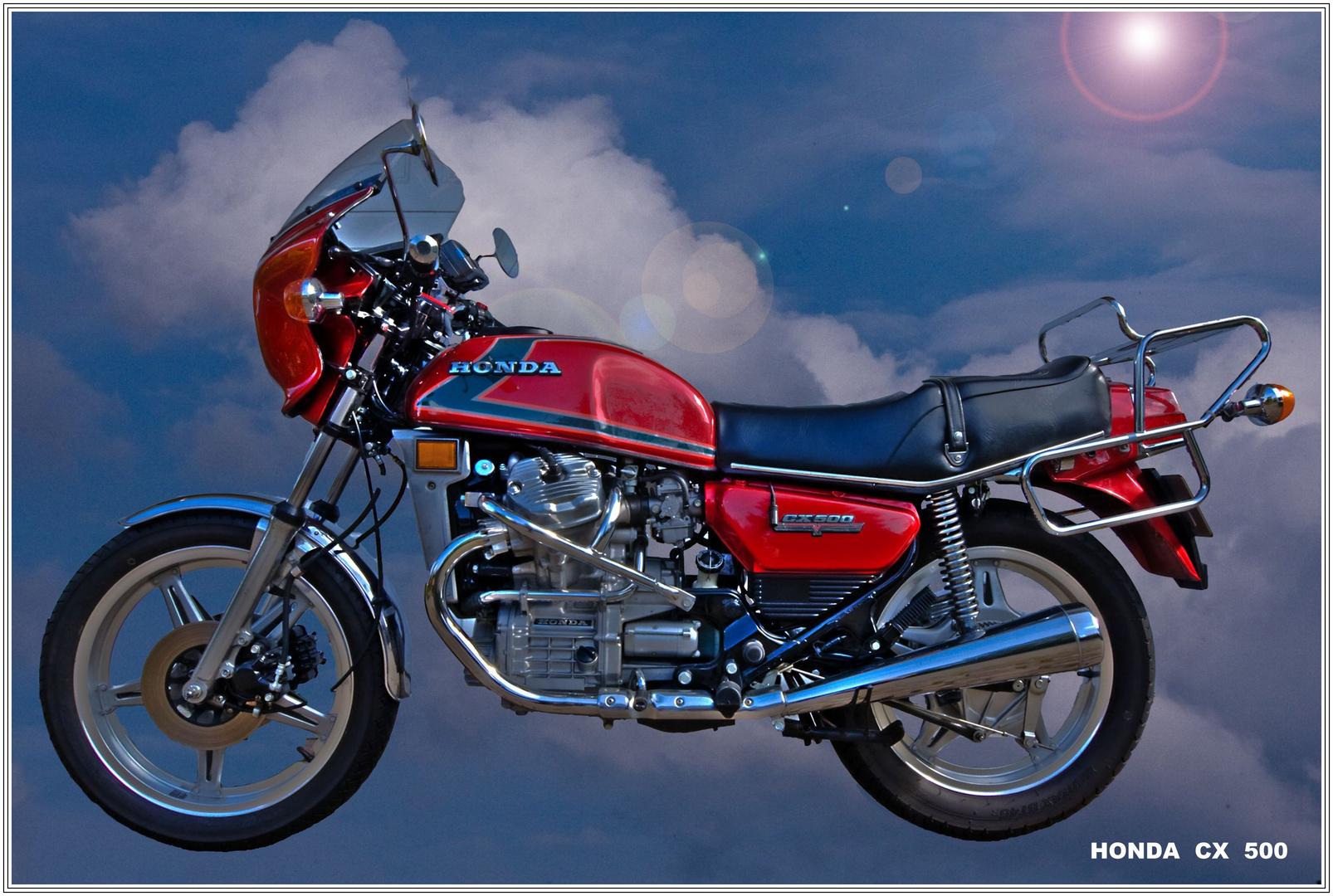 Umgebautes Motorrad Honda CX 500 von Motorradhaus GEDE