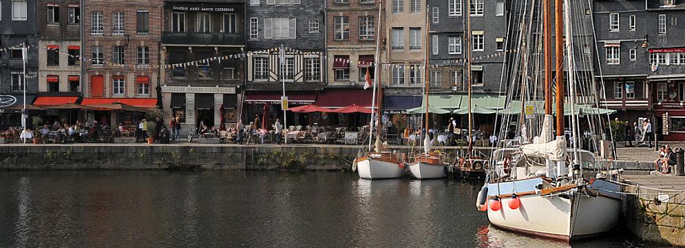 Honfleur Bistros am Hafen