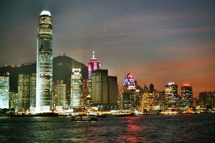 Hong Kong bei Dämmerung