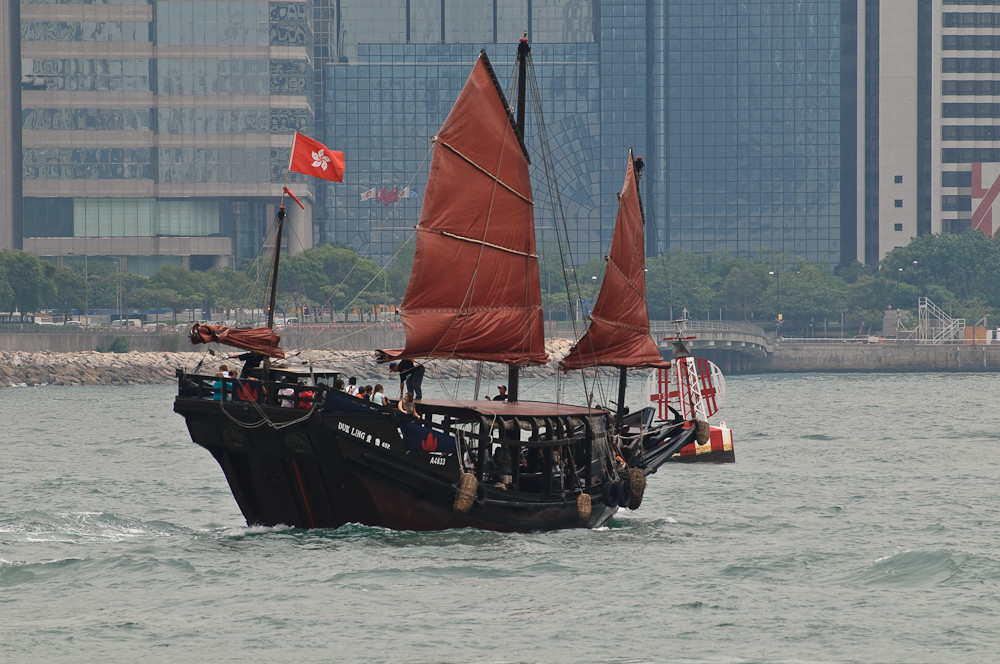 Hong Kong - Harbour - back to old days