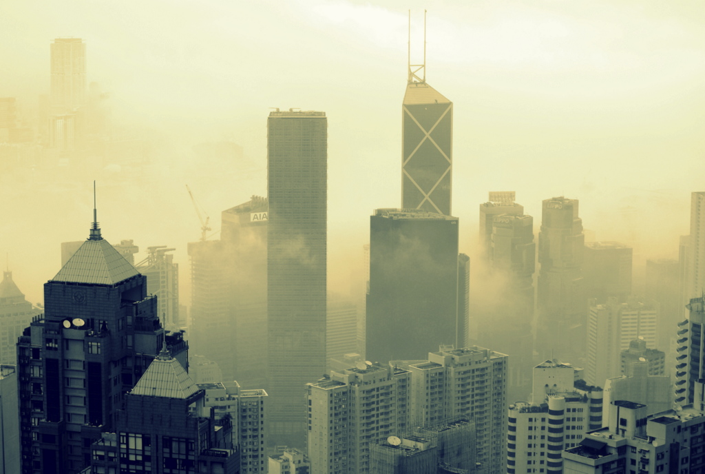 Hong Kong in clouds