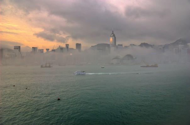 Hong Kong in Nebel