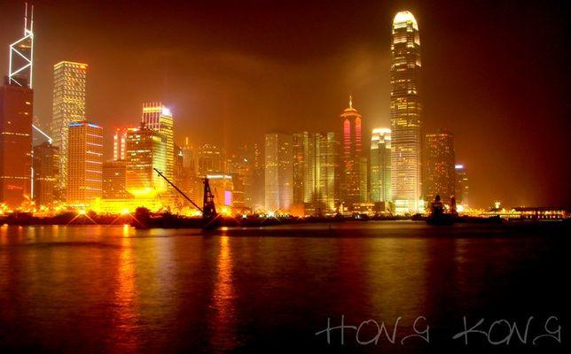 Hong Kong Island @ night