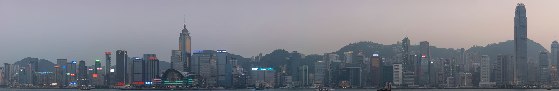 Hong Kong Island Skyline Panorama