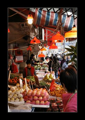 hong kong market - fruits