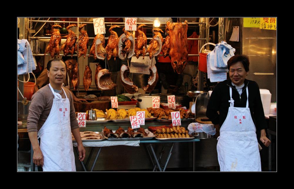 hong kong market - meat