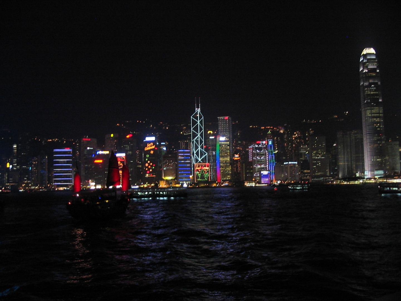 Hong Kong Skyline Dezember 2006