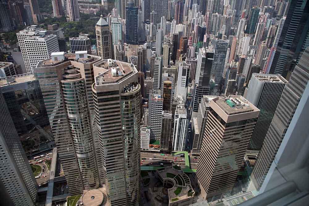 Hongkong aus dem IFC gesehen