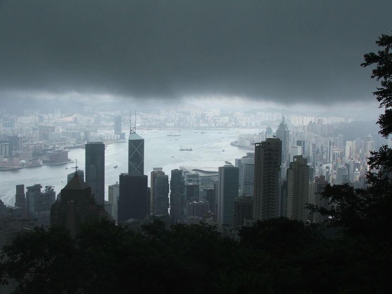 Hongkong im Wolkenloch