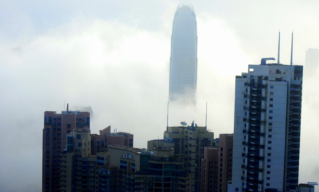 Hongkong in clouds 2