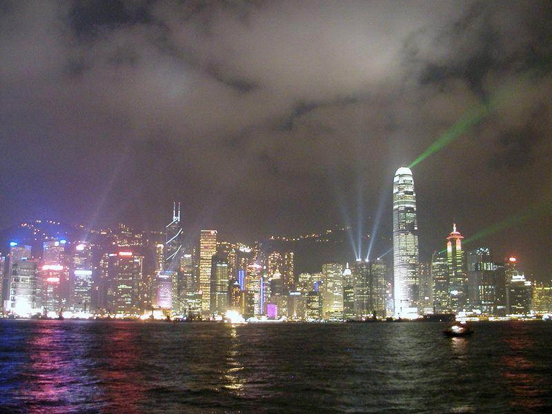 Hongkongskyline mit Lightshow!