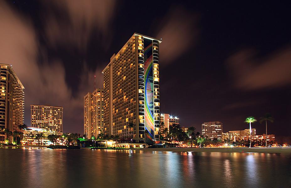Honolulu at night.