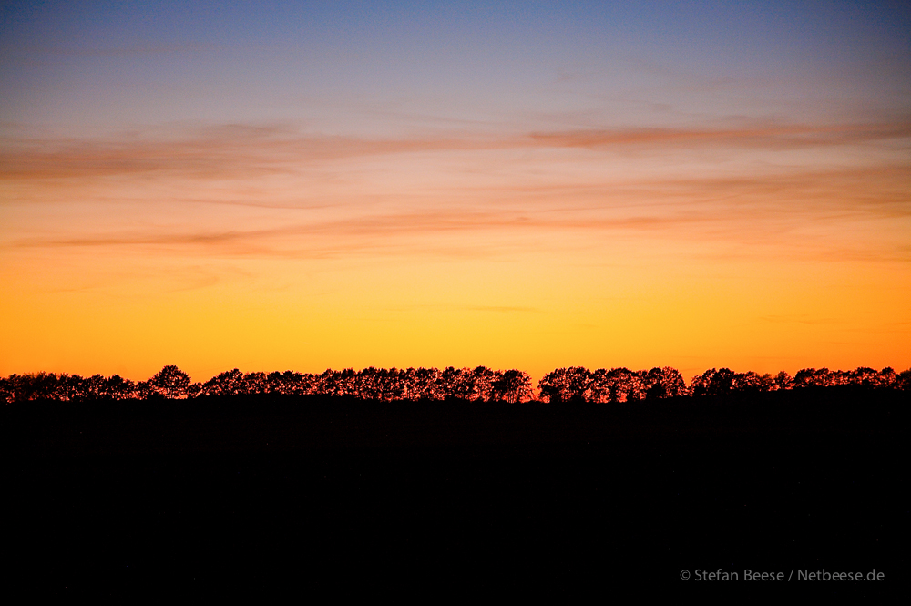 Horizont am Abend