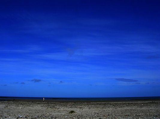 horizontblauer abschied.