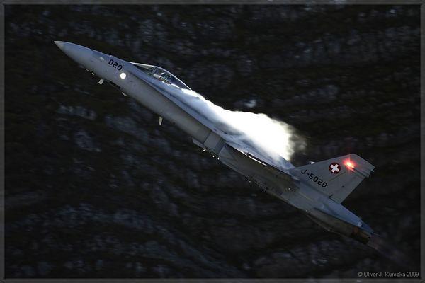 """""""Hornet """" F/A 18 @ Axalp 2009"""