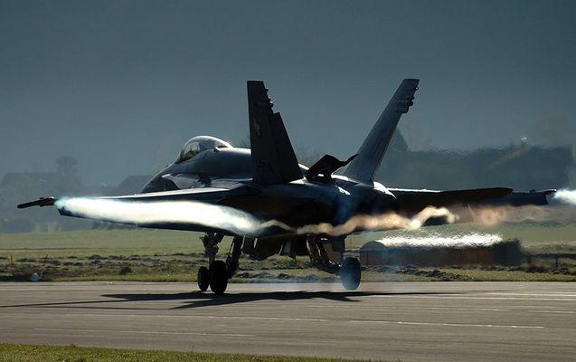 Hornet-Landung