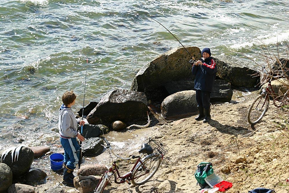Hornfisch-Angler-Glück