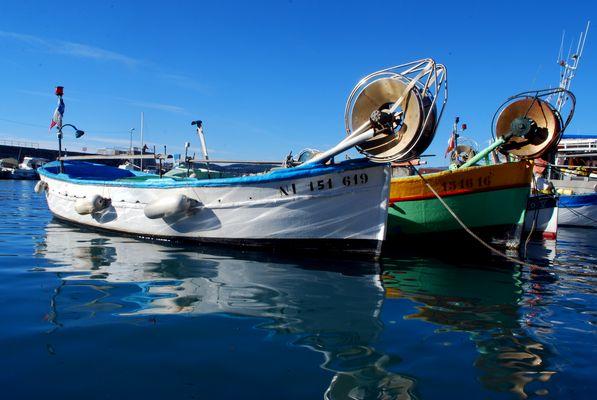 Hors saison au port du Cros
