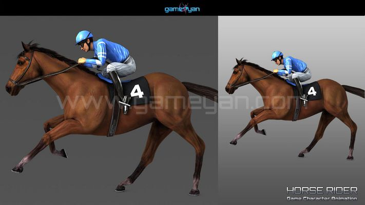 Horse Rider Game Character Modeling