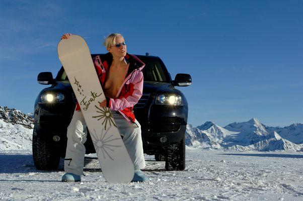 Hot at the glacier