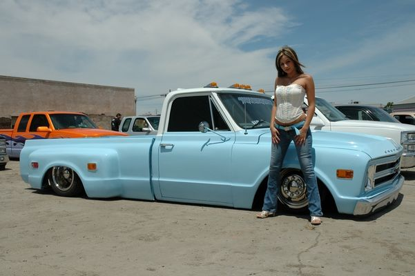 hot chick on a hot truck