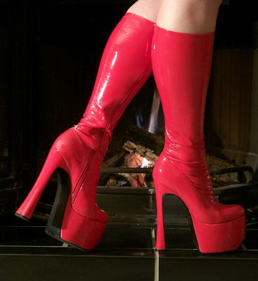 Hot Red Boots