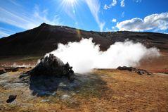 Hot Spot im Hochtemperaturgebiet Hverir/ Nordostisland
