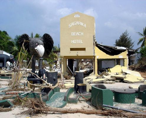 Hotel after Tsunami
