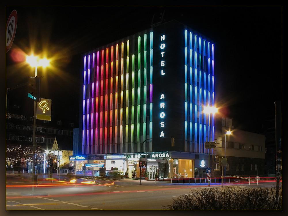 Hotel Arosa bei Nacht