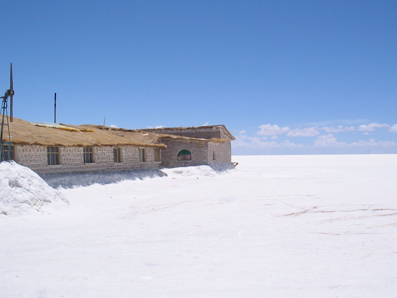 Hotel aus Salz auf Salzsee