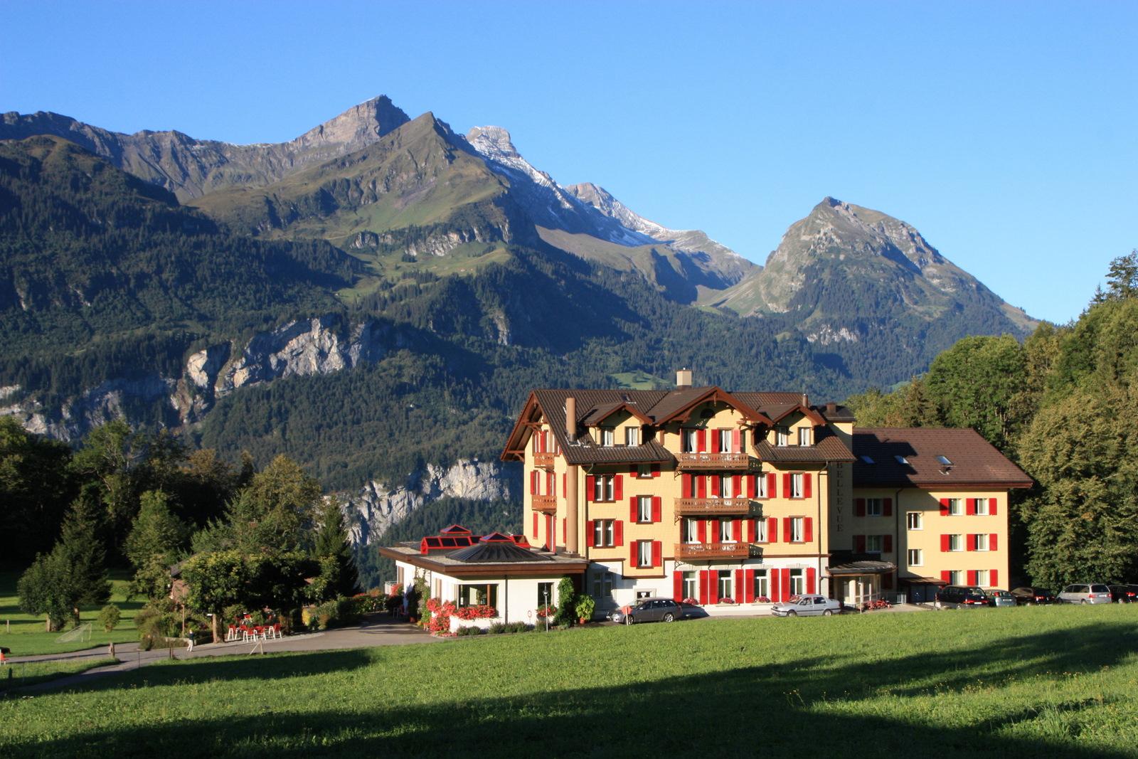 Hotel Bellevue in Hasliberg-Hohfluh, Berner Oberland, Schweiz