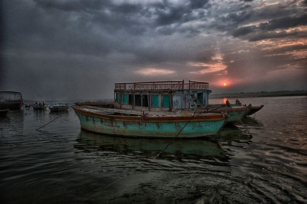 House Boat on the River Ganges