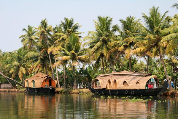 House boats sur les Backwaters