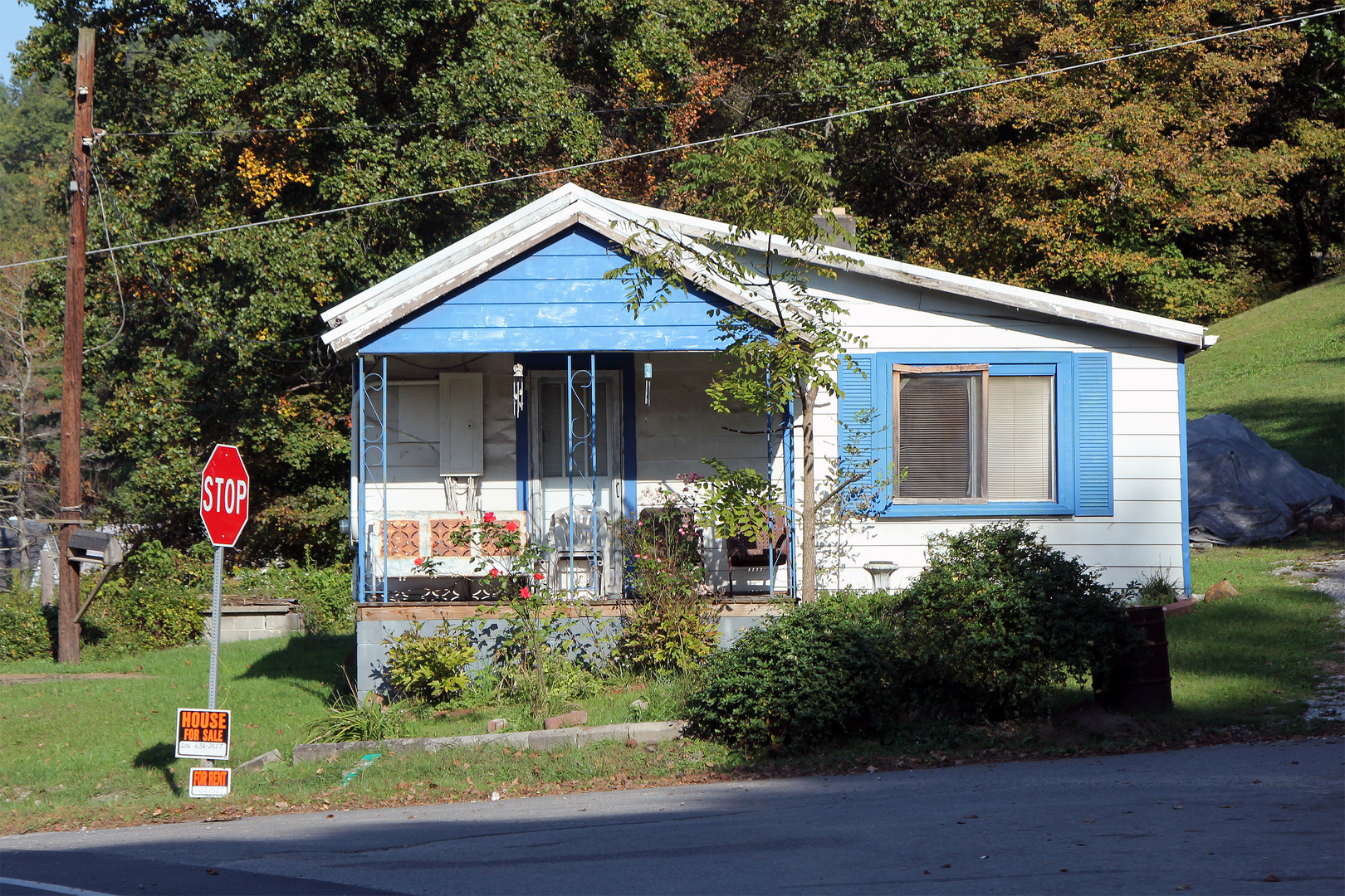 House for Sale, For Rent, Folgen der Wirtschaftslage in West Virginia, Kentucky, USA 2013