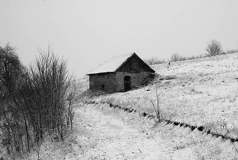 House on the snow