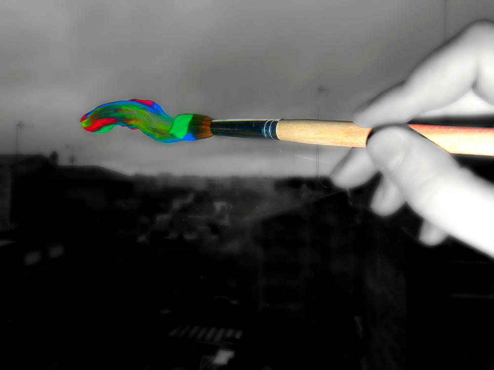 Hoy he pintado el cielo de colores para que este día no sea tan triste... =)