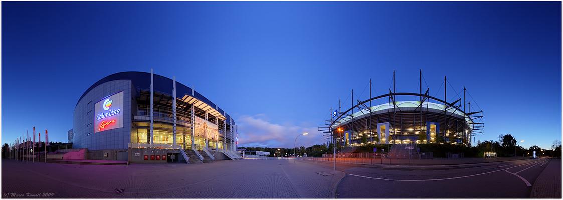 HSH Norbankarena und Color-Line Arena in...