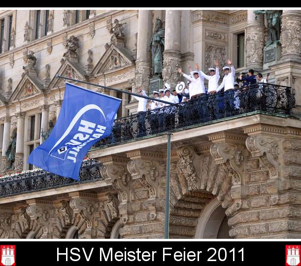 HSV Handball Meisterfeier auf dem Rahthausmarkt