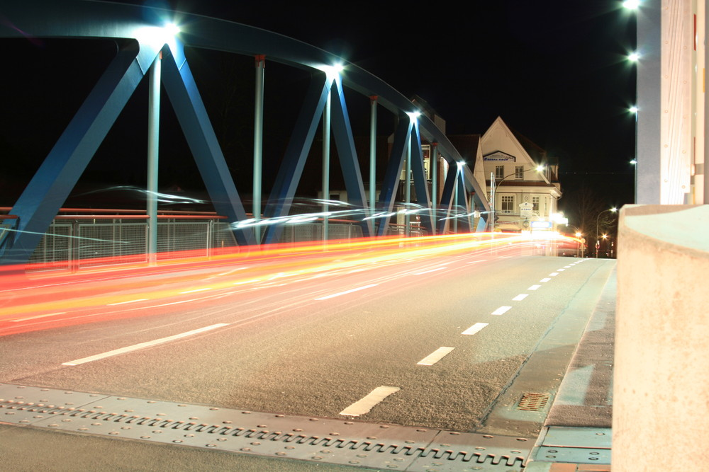 Hubbrücke Meppen ``In the dark´´