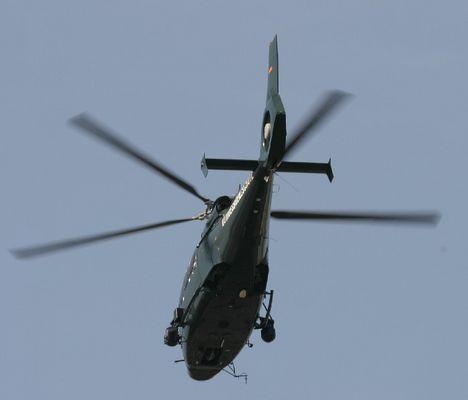 Hubschrauber am Flughafen Düsseldorf