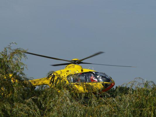 Hubschrauber bei der Landung