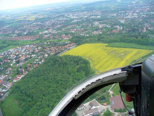 Hubschrauber-Flug über Detmold