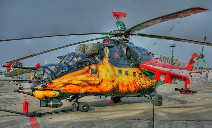 Hubschrauber in HDR
