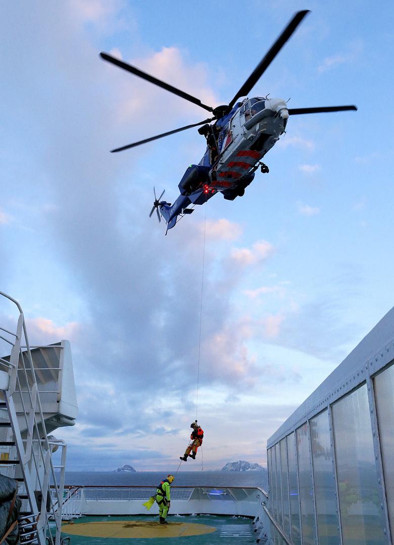 Hubschrauber-Rettungsübung