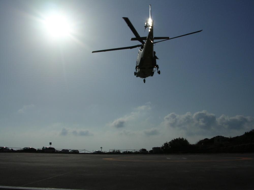 Hubschraubereinsatz auf der Insel Capraia
