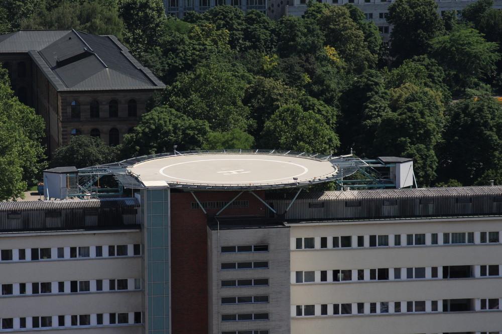 Hubschrauberlandeplatz des Katharinen Hospital in Stuttgart