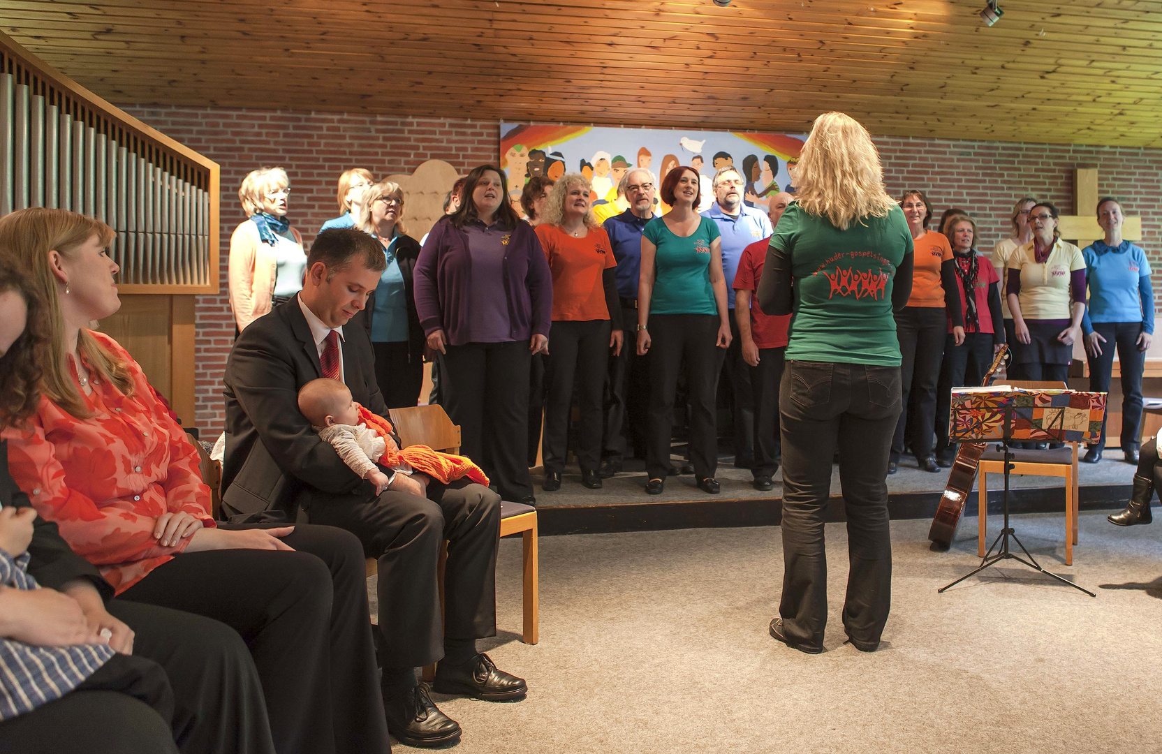 Huder Gospel Singers bei der Taufe